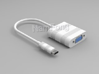 USB TYPE C TO VGA F 白色,TYPE C TO VGA F 白色