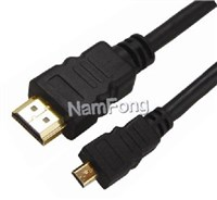 HDMI 19P AM TO MINI HDMI DM CABLE 黑色