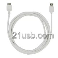 MICRO线,MICRO数据线,USB AM TO MICRO USB BM 3.0 CABLE 白色
